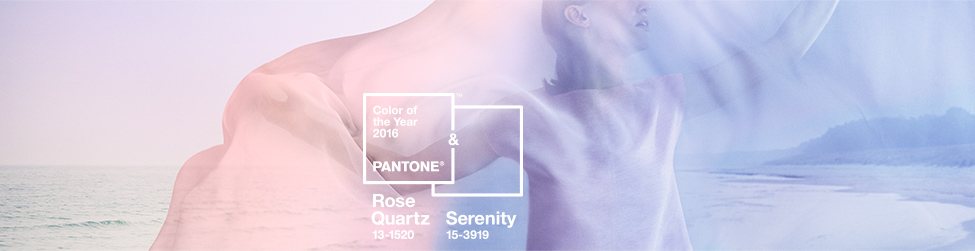 PANTONE COLOR OF THE YEAR 2016 - Rose Quartz 13-1520 & Serenity 15-3919