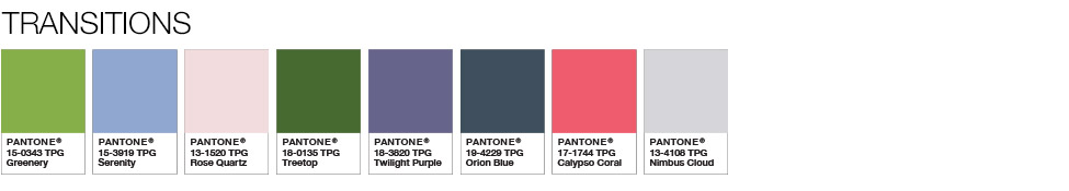 Color of the Year 2017 - Color Pairings and Palettes