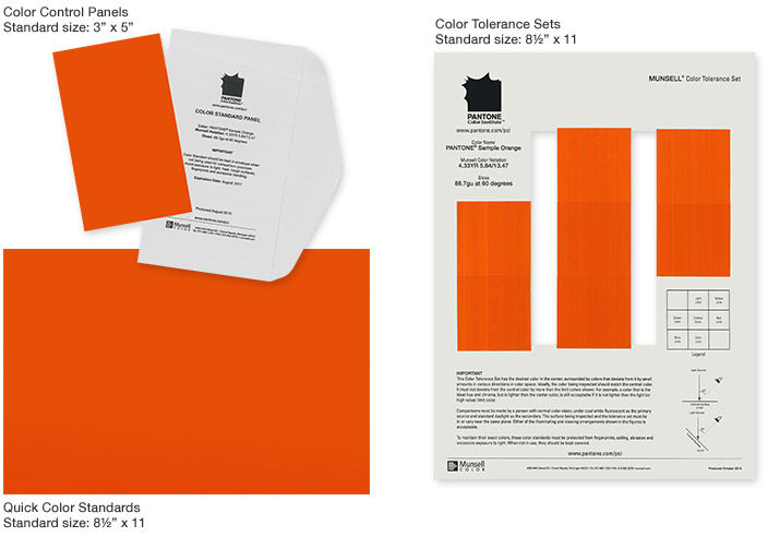 Pantone Custom Color Standards Sheets