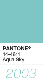 Pantone Color of the Year 2003 Aqua Sky 14-4811