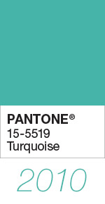 Pantone Color of the Year 2010 Turquoise 15-5519