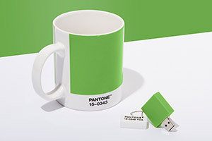 PANTONE Chip Drive in Greenery
