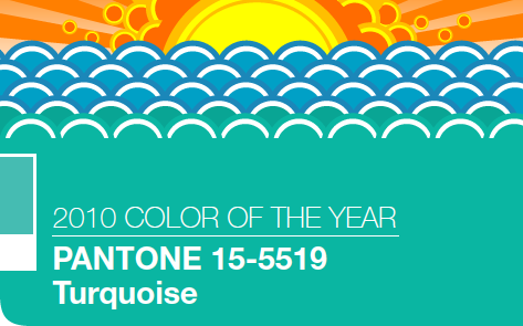 2010 COLOR OF THE YEAR PANTONE 15-5519 Turqoise