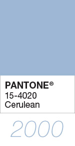 Pantone Color of the Year 2000 Cerulean 15-4020