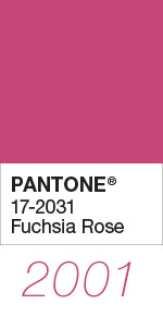 Pantone Color of the Year 2001 Fuchsia Rose 17-2031