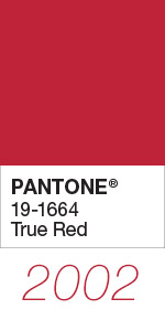 Pantone Color of the Year 2002 True Red 19-1664