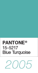 Pantone Color of the Year 2005 Blue Turquoise 15-5217