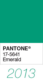 Pantone Color of the Year 2013 Emerald 17-5641