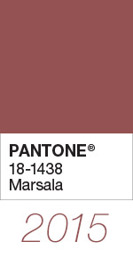 Pantone Color of the Year 2015 Marsala 18-1438